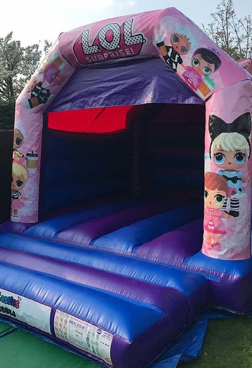 lol surprise medium bouncy castle essex rental hire