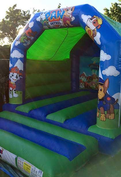 paw patrol medium bouncy castle essex rental hire