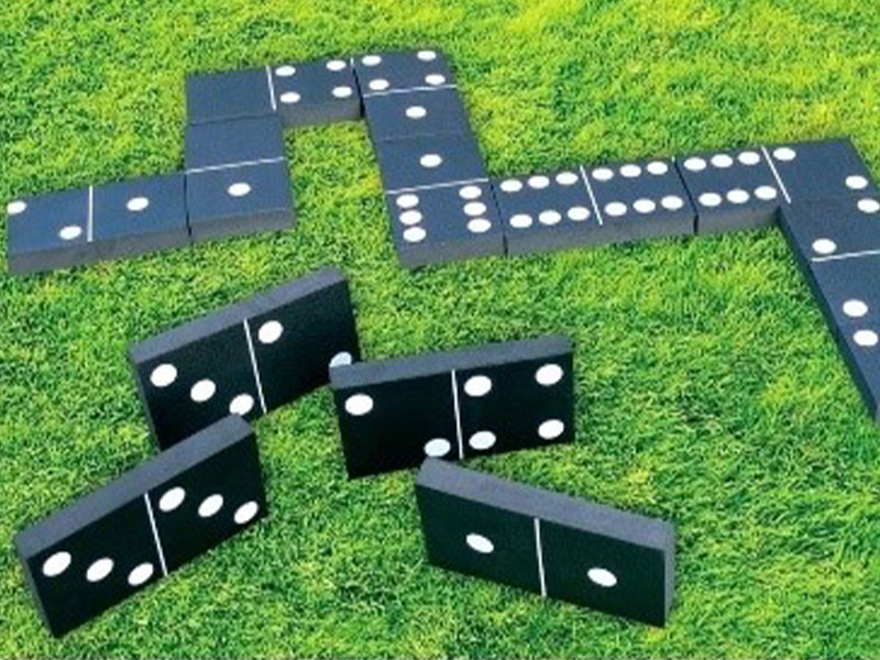 Giant black Wooden Dominoes Party Hire Essex
